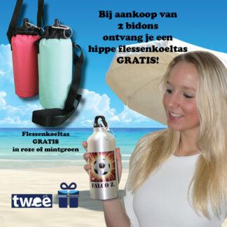 Flessenkoeltas gratis bij twee bidons actie